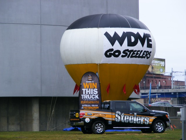 WDVE Steelers Truck