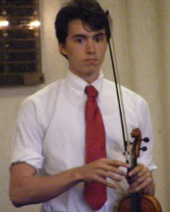 Christian with violin