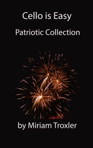 patriotic cover balck baground and new fireworks cello is easy