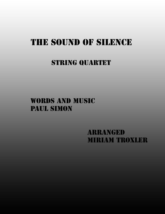 Sound of Silence Cover String Quartet